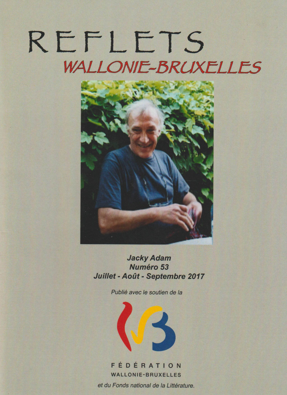 Jacky Adam dans REFLETS Wallonie-Bruxelles, Numéro 53
